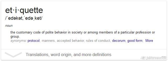 Etiquette definition
